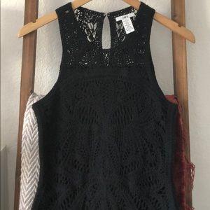 Crochet black design dress